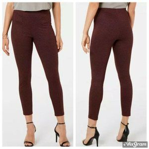 HUE Leggings Size XS Burgundy Tweed High-Waist